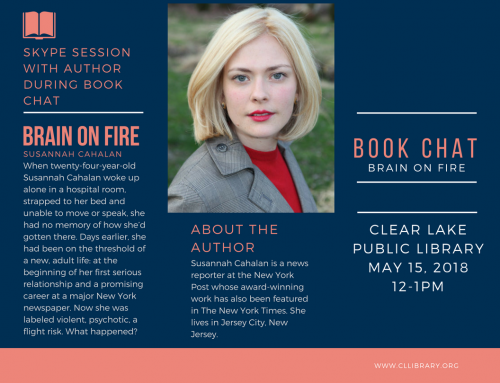 Book Chat: Brain on Fire May 15th @12pm