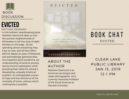 Book Chat: Evicted, January 15 @12pm