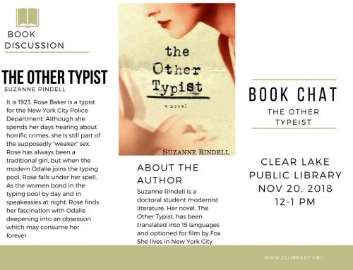 Book Chat: The Other Typist Nov 20 @12-1pm