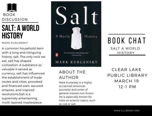 Book Chat: Salt – Tues Mar 19 12pm