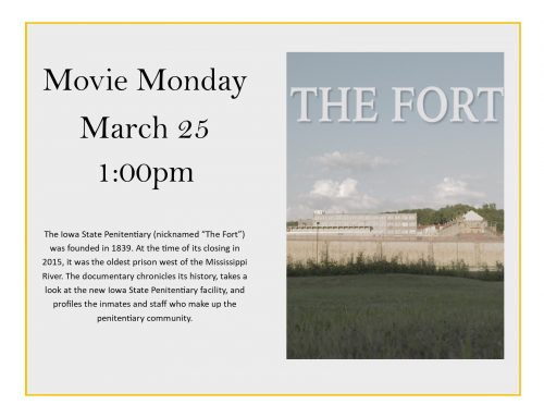 Movie Monday March 25 @ 1:00 pm