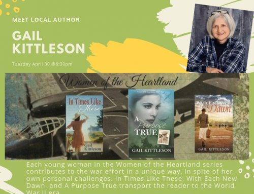 Author Visit: Gail Kittleson Tuesday April 30 at 6:30pm