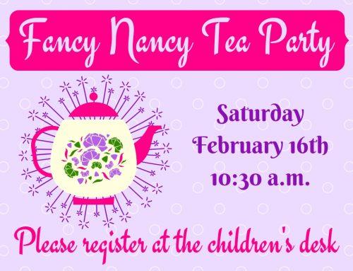 Fancy Nancy Tea Party February 16th @ 10:30am