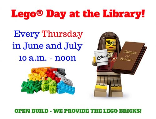 Lego® Day at the Library Thursdays in June/July 10a-12p