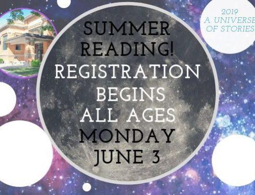 Summer Reading Program Begins June 3!